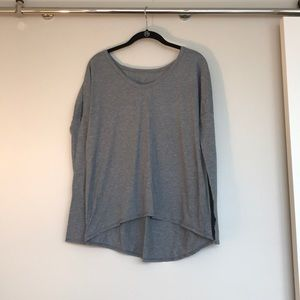 Lululemon Gray Long Sleeve Slouchy Top
